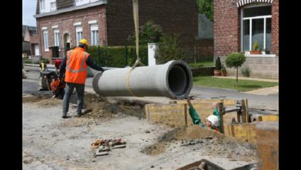 Le chantier d'assainissement de Staple se termine en février 2017